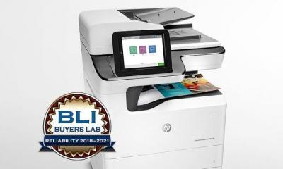 """HP benoemd tot """"Meest betrouwbare zakelijke printer- en MFP-merk 2018‐2121"""""""